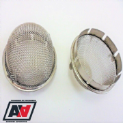 Weber 45 DCOE 44 48 IDF Carburettor Mesh Domed Slip In Trumpet Air Filters x 2